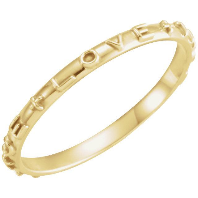 Picture of 14K Gold True Love Chastity Ring with Packaging Size 6