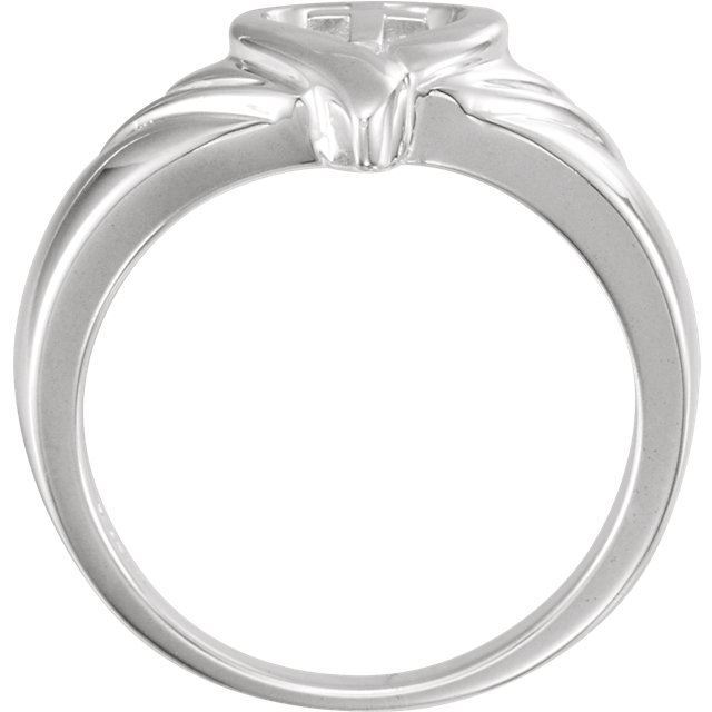Picture of 14K Gold Heart & Cross Ring