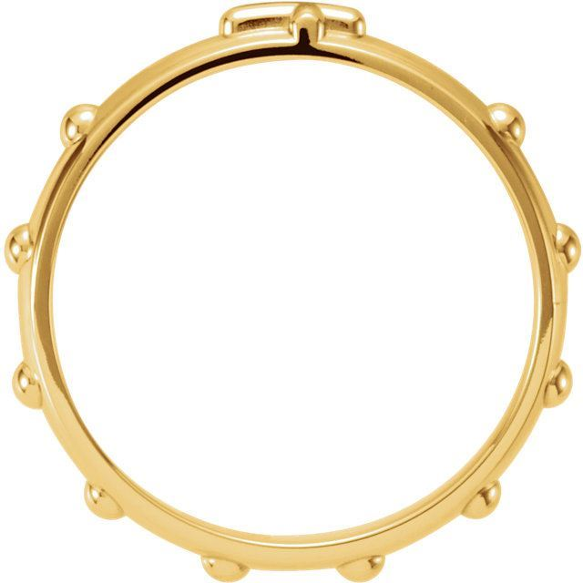 Picture of 14K Gold Rosary Ring