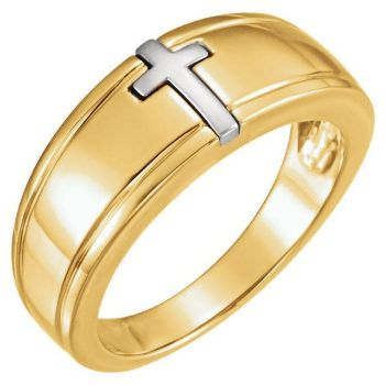 Picture of Two-Tone Cross Ring