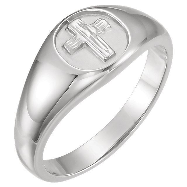 Picture of 14K Gold The Rugged Cross® Chastity Ring Size 10