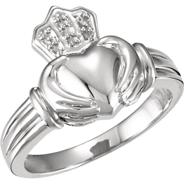 Picture of 14K Gold Ladies Bridal Claddagh Band