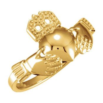 Picture of 14K Gold 12 x 14 mm Ladies Claddagh Ring