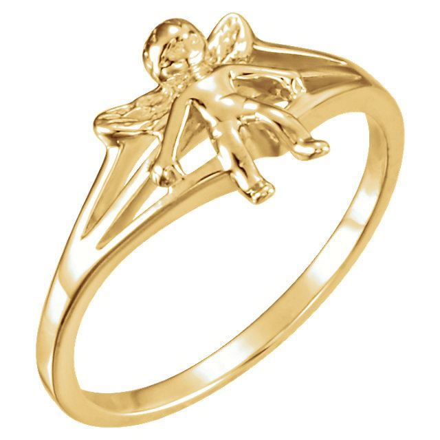 Picture of 14K Gold Angel Chastity Ring Size 7 with Packaging
