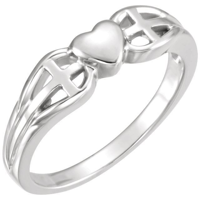Picture of Heart & Cross Ring