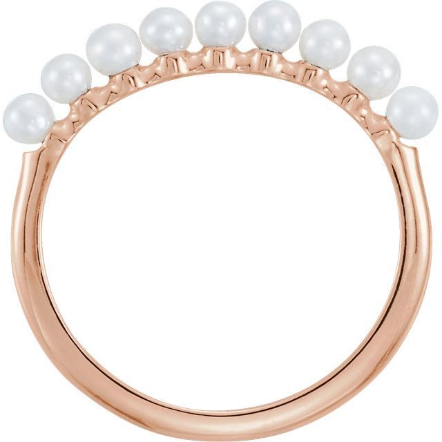 Picture of 14K Gold Freshwater Cultured Pearl Stackable Ring