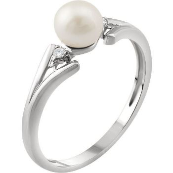 Picture of 14K Gold Freshwater Cultured Pearl & .03 CTW Diamond Ring