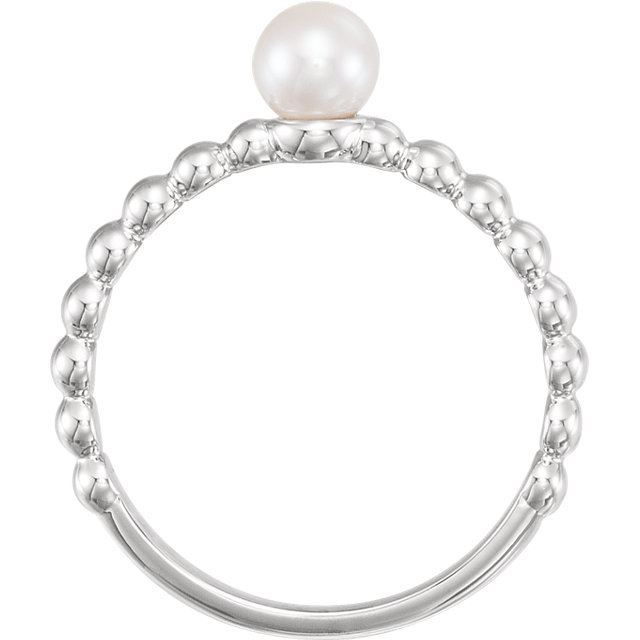 Picture of 14K Gold 5.5-6mm Freshwater Cultured Pearl Ring