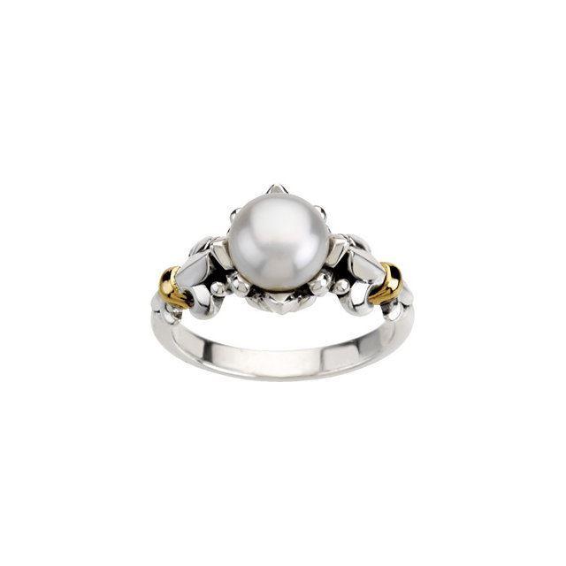 Picture of Fleur-de-lis Pearl Ring