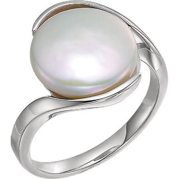 Picture of Solitaire Ring for Coin Pearl