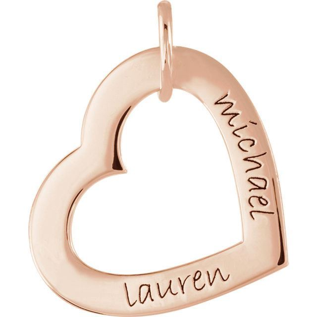 Picture of Names Engravable Small Heart Loop