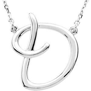 "Picture of A to Z Script Initials 16"" Necklace"