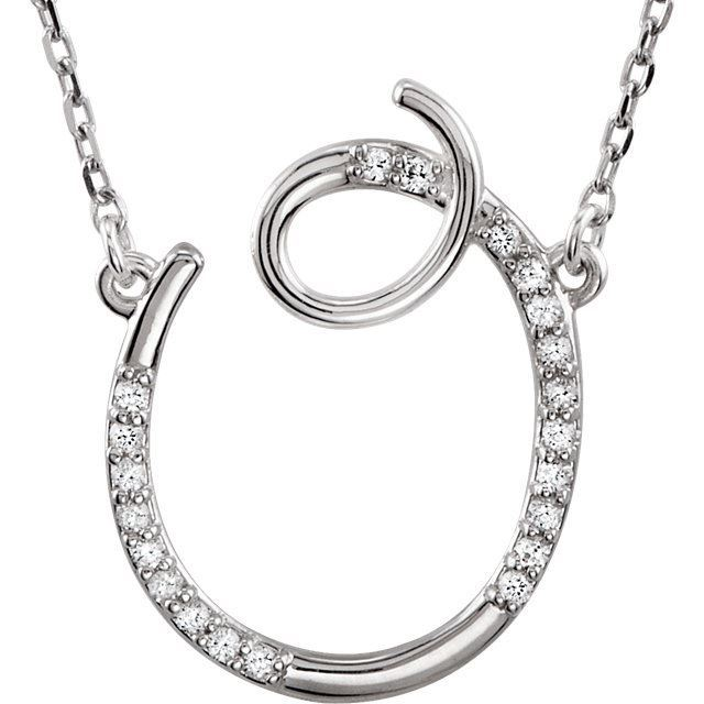 "Picture of A to Z Script Diamond Initials 17"" Necklace"