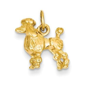 Picture of 14k Solid 3-Dimensional Poodle Charm