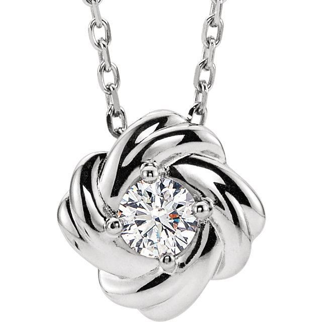 "Picture of Knot Necklace 16-18"" chain"