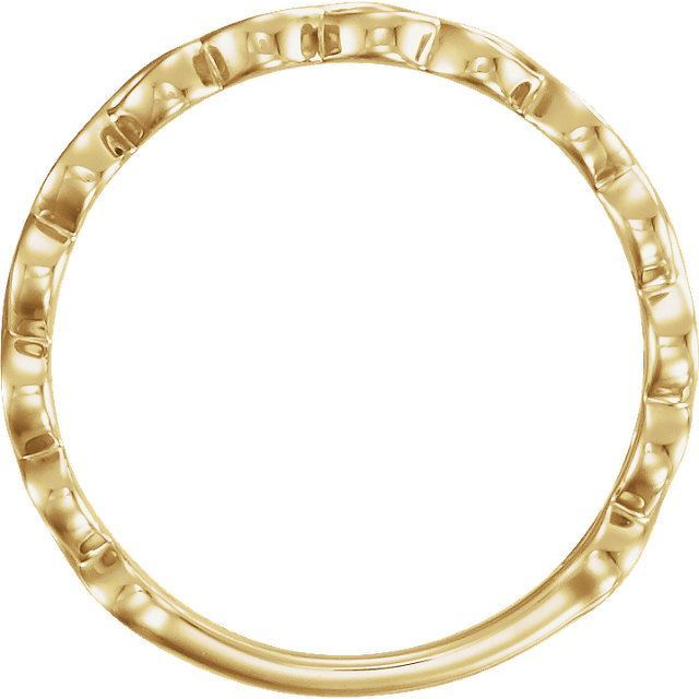 Picture of 14K Gold Infinity-Inspired Stackable Ring