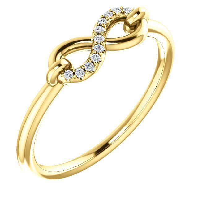 Picture of 14K Gold Diamond Infinity Ring