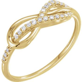 Picture of 14K Gold Diamond Infinity Knot Ring