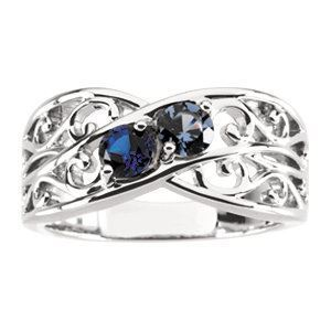 5 stones mom family ring