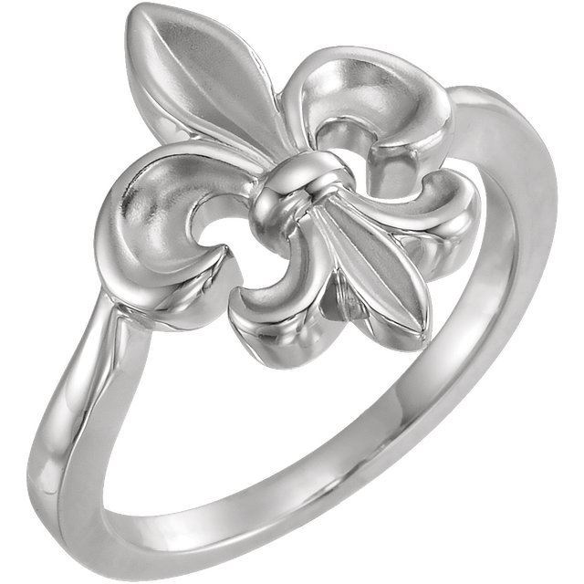 Picture of 10K or 14K Fleur-de-lis Ring
