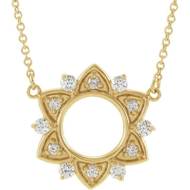 Picture of Golden Sun Diamond Necklace