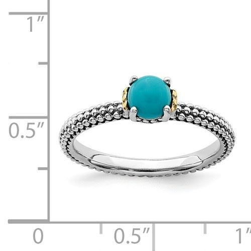 Picture of Silver Antiqued Ring Turquoise Stone