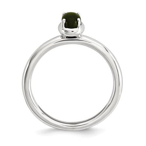 Picture of Silver Oval Onyx Ring
