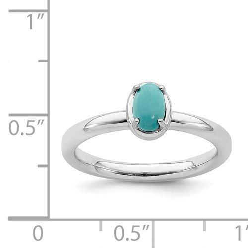 Picture of Silver Oval Reconstituted Turquoise Ring