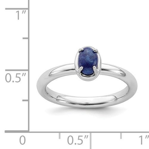 Picture of Silver Ring Natural Oval Blue Lapis Lazuli