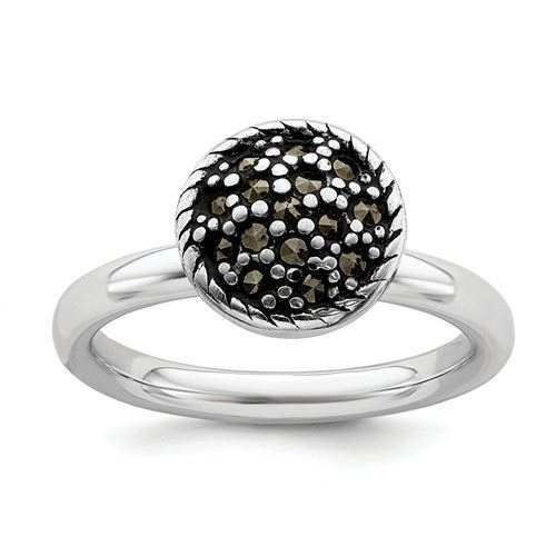 Picture of Silver Stackable Expressions Marcasite Circle Ring