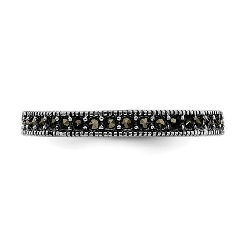 Picture of Sterling Silver Stackable Expressions Marcasite Ring