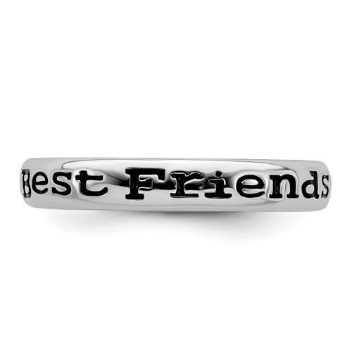Picture of Sterling Silver Stackable Best Friends Ring