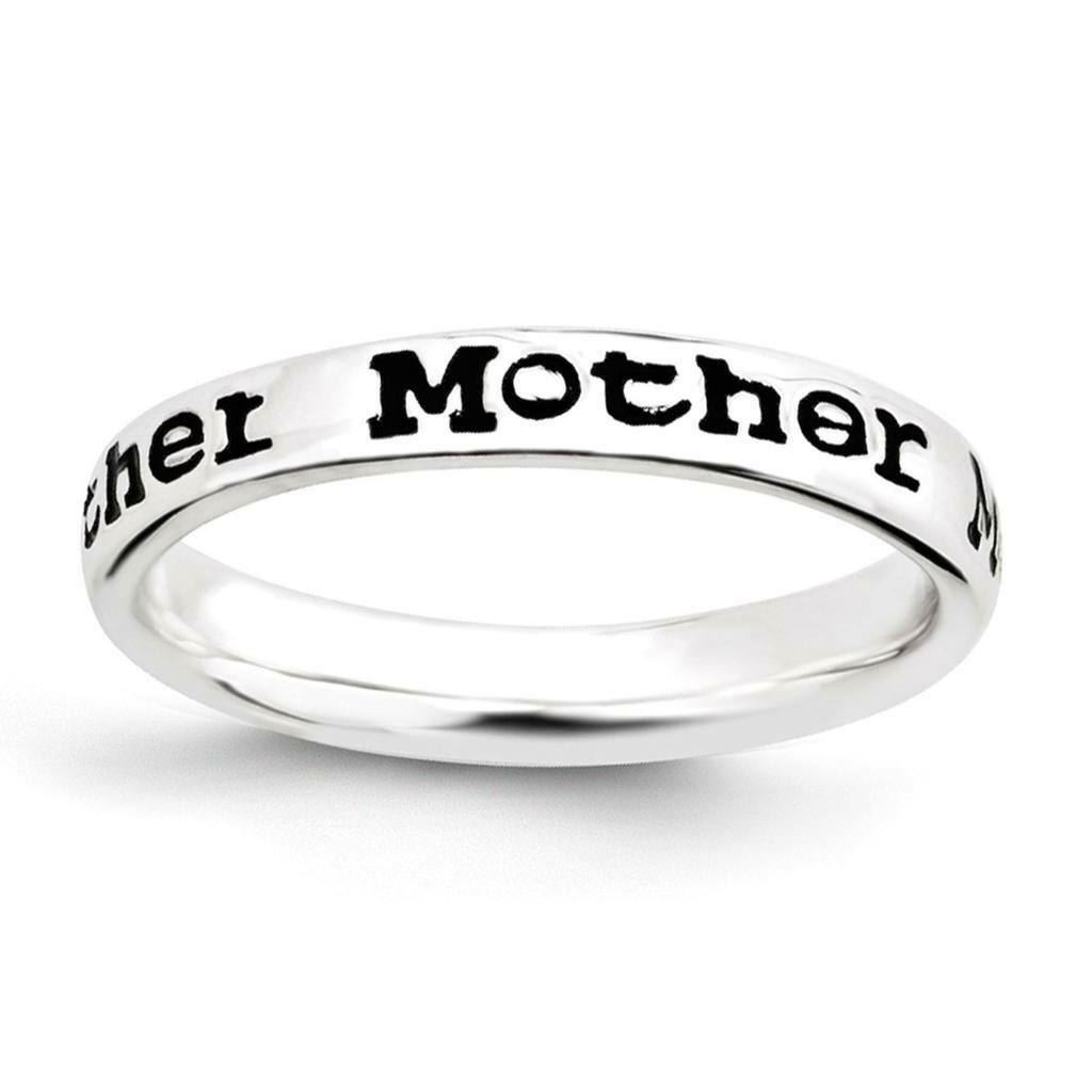 Picture of Sterling Silver Stackable Mother Ring