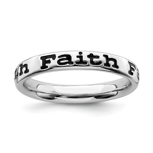 Picture of Sterling Silver Stackable Faith Ring