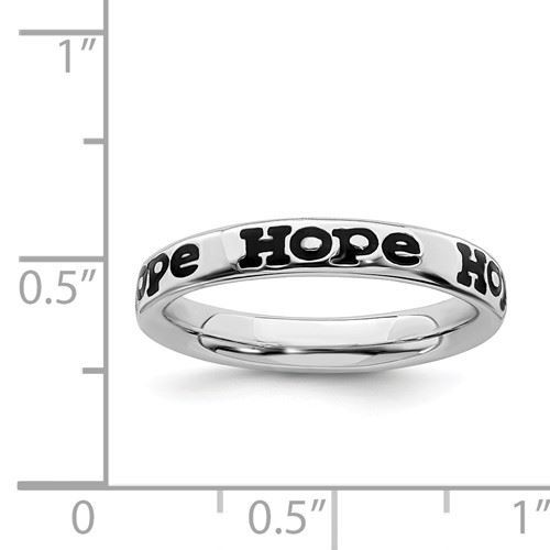 Picture of Sterling Silver Stackable Hope Ring