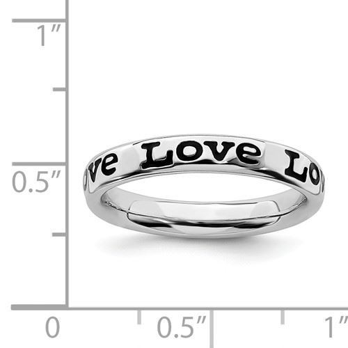 Picture of Sterling Silver Stackable Love Ring
