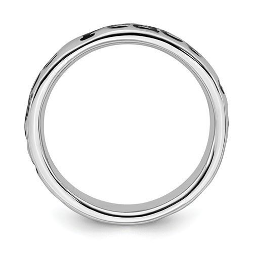 Picture of Sterling Silver Stackable Peace Ring