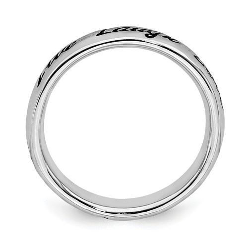 Picture of Live Laugh Love Sterling Silver Stackable Ring