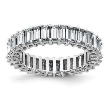 Picture of Emerald-Cut Eternity Anniversary Band 14K White Gold