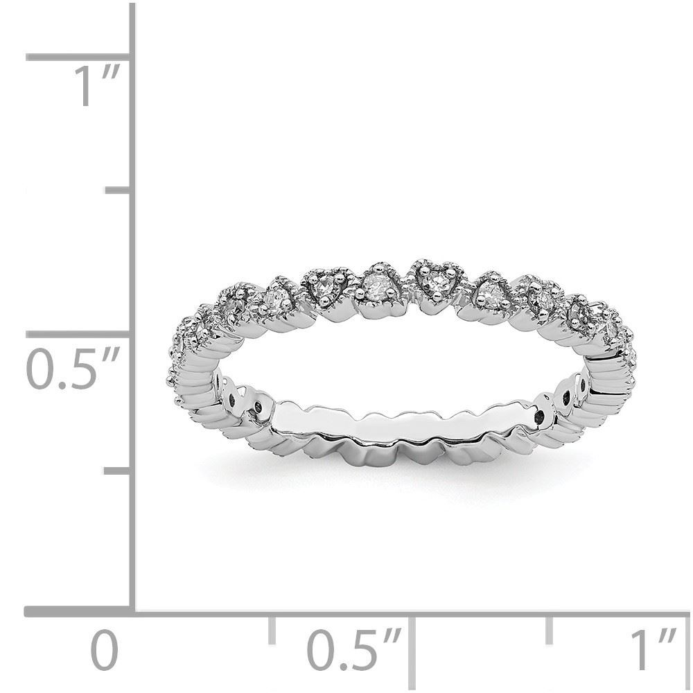 Picture of Silver Stackable Diamond Ring