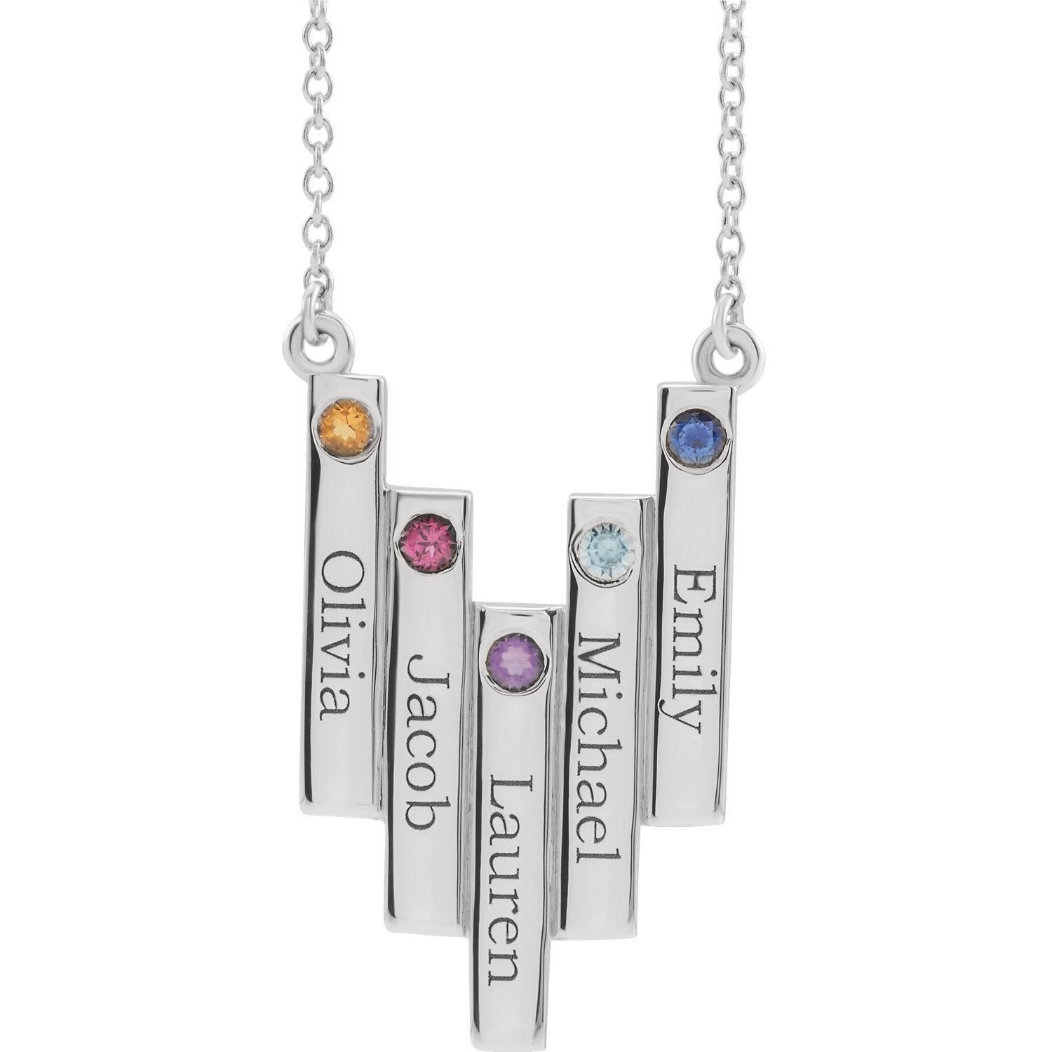 Picture of Family Geometric Necklace 5 Names