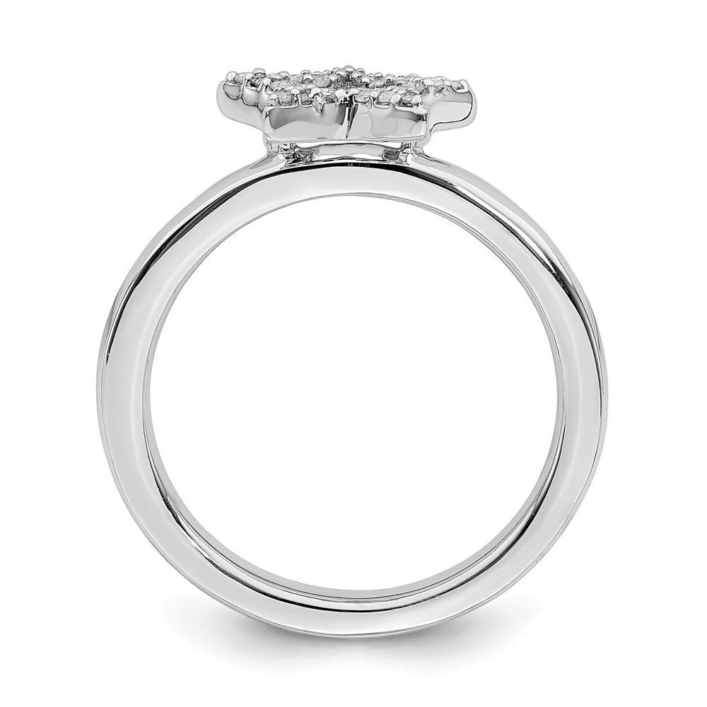 Picture of Silver Stackable Star Diamond Ring