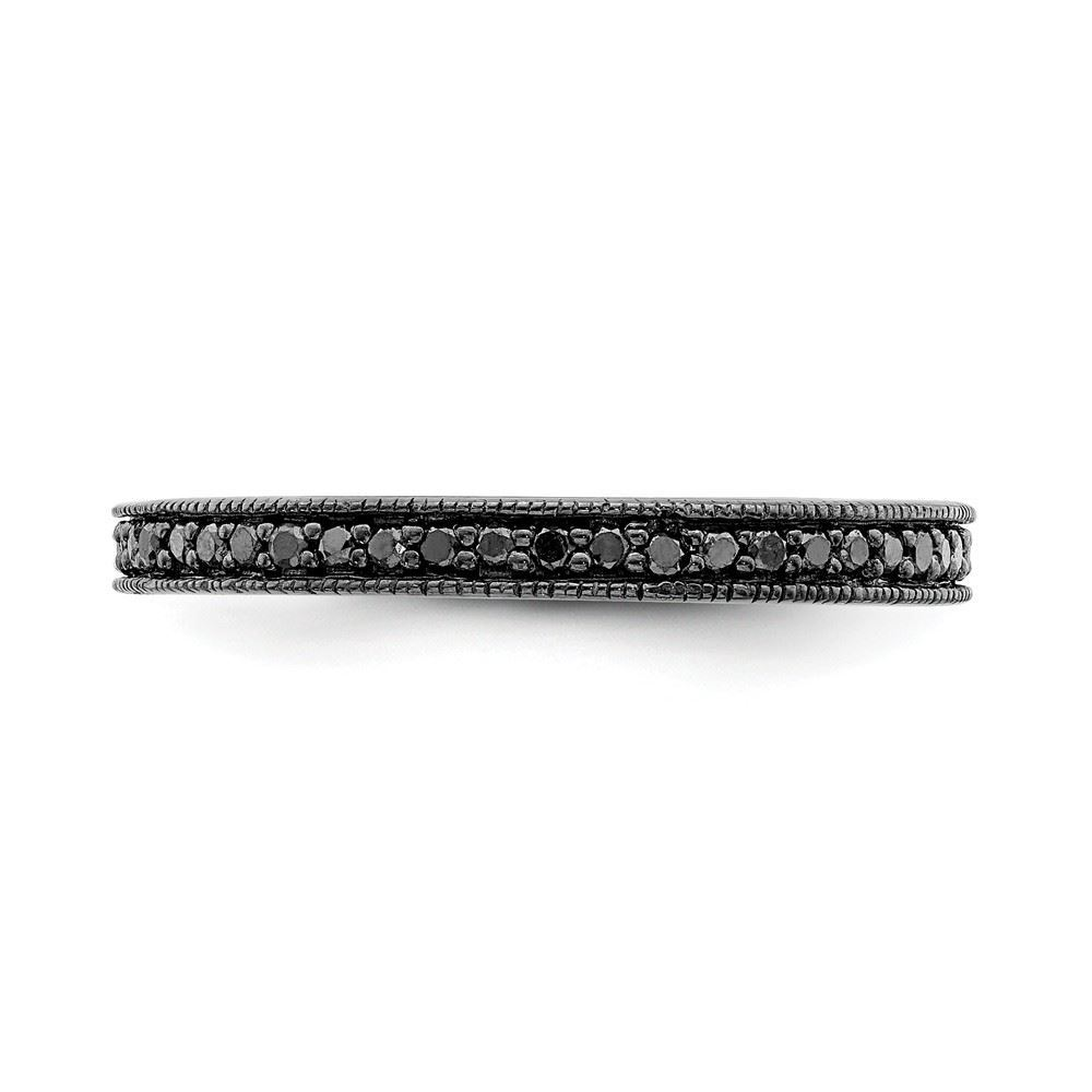 Picture of Sterling Silver Stackable Reversible Black & White Diamond Ring