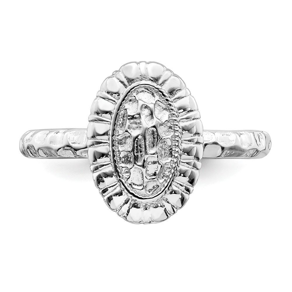 Picture of Sterling Silver Oval Ring
