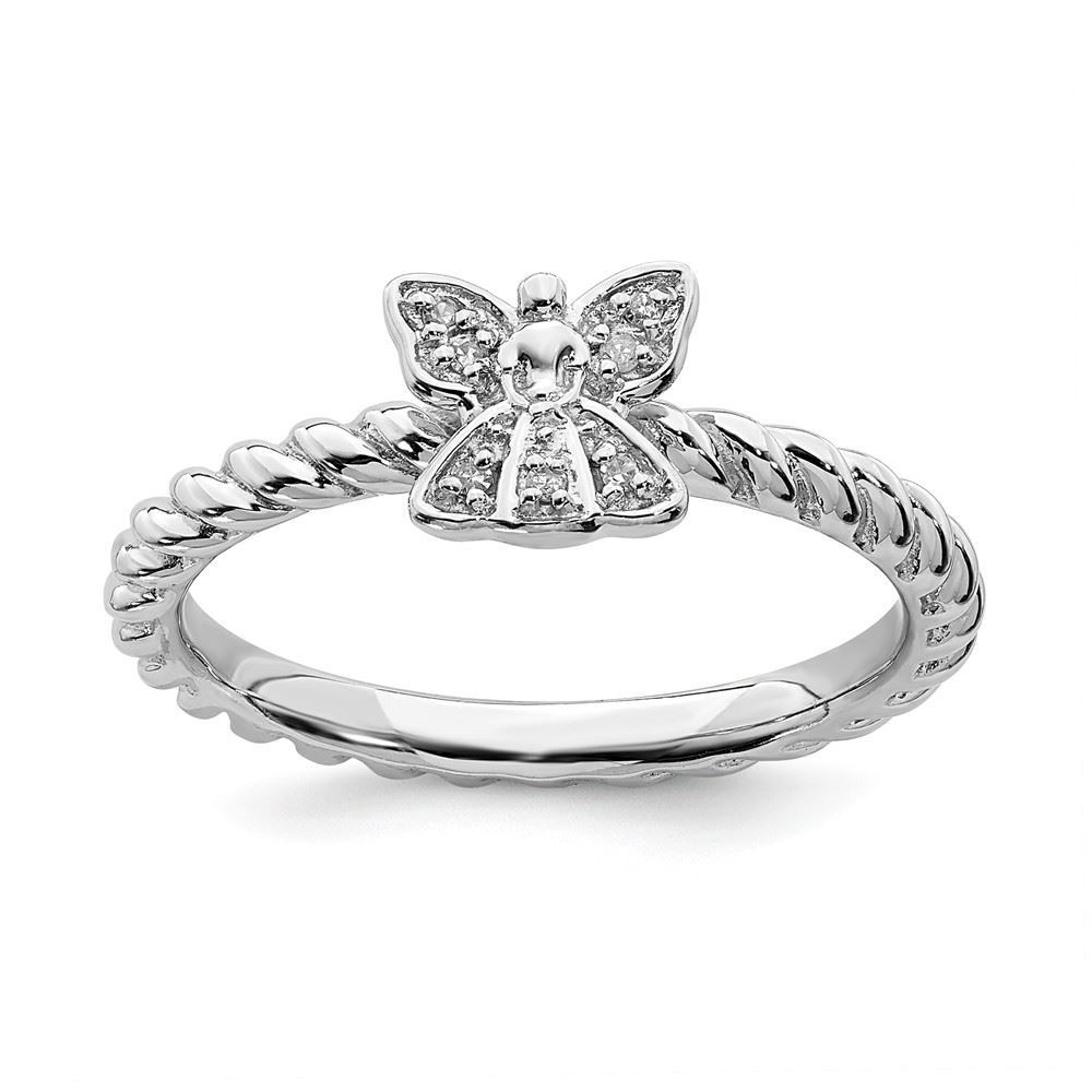 Picture of Diamond Angel Ring Sterling Silver