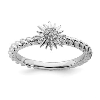 Picture of Diamond Star Ring Sterling Silver