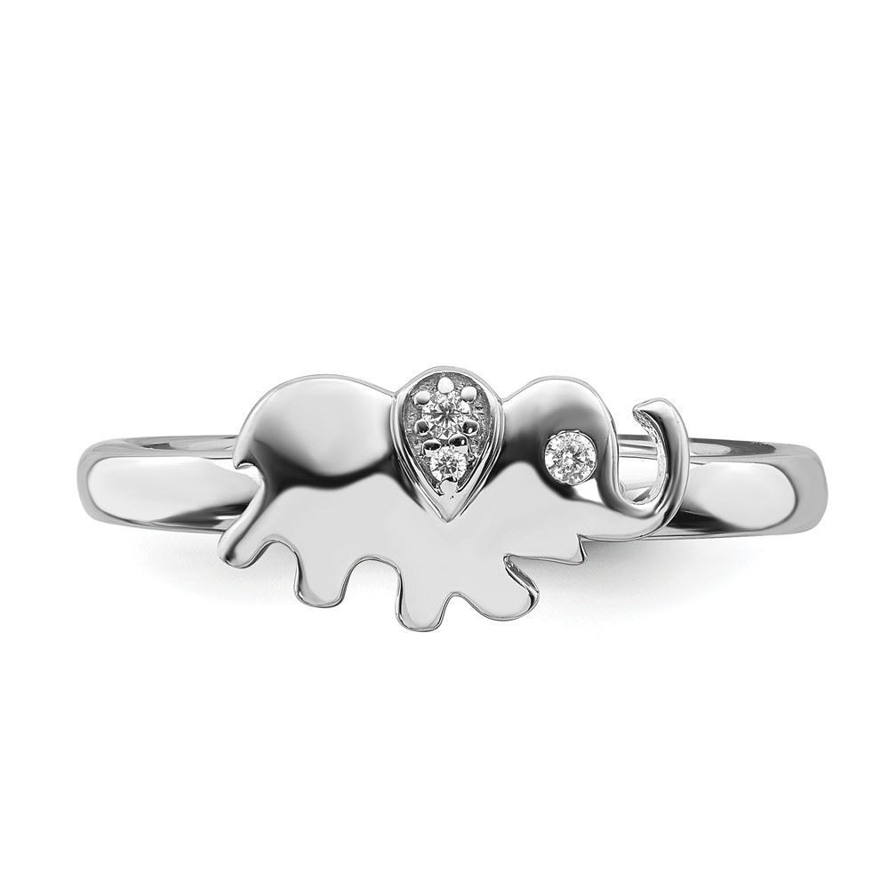 Picture of Diamond Elephant Ring Sterling Silver