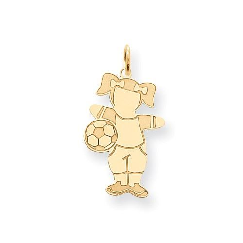 Picture of 14k Soccer Girl Cuddle Charm