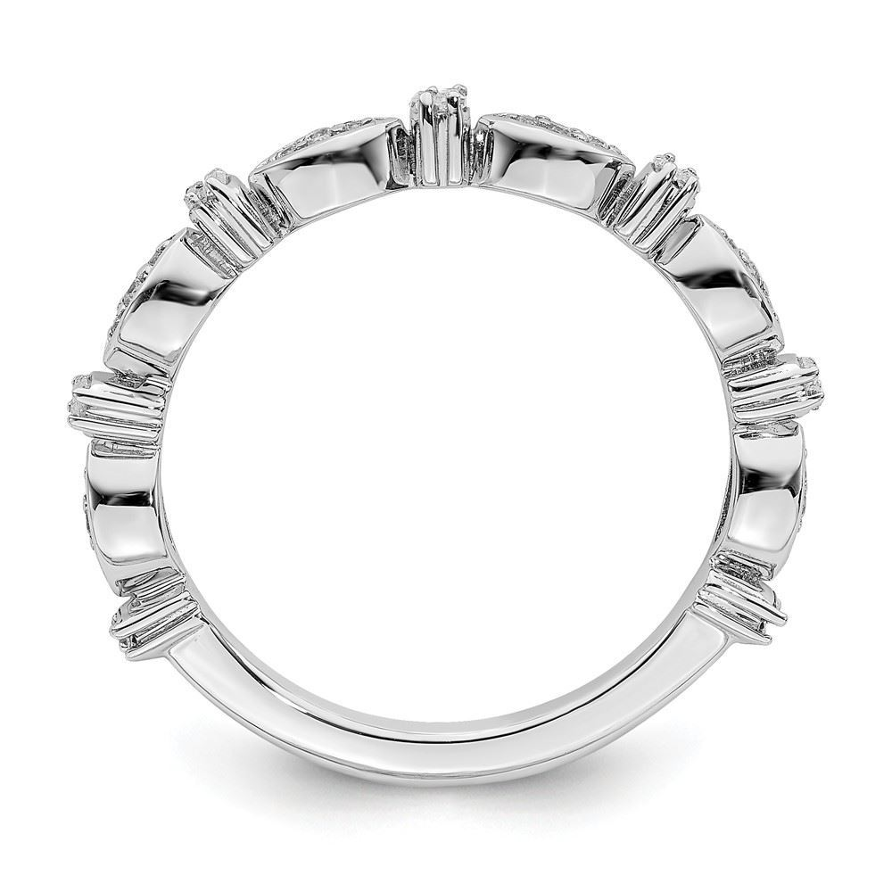 Picture of Sterling  Silver Stackable Diamond Ring