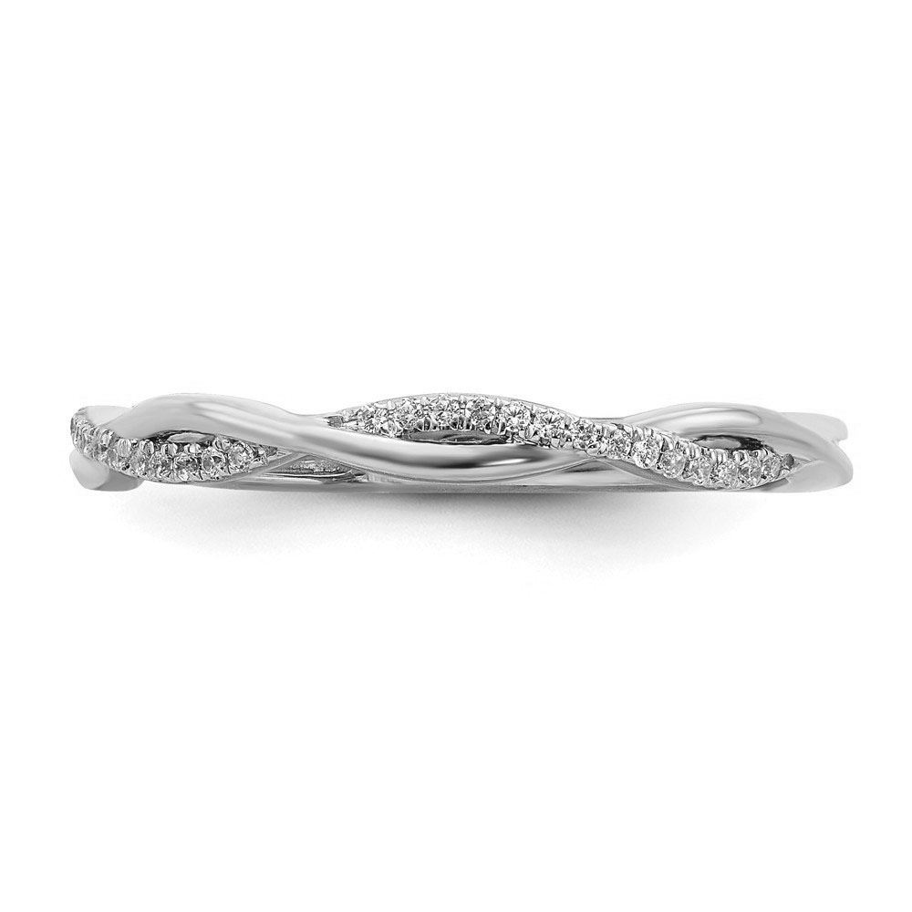 Picture of 14K White Solid Gold Diamond Stackable Ring